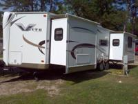 2011 Forrest river V lite 30 foot travel trailer, three