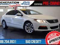CC Sport, 2.0L Turbocharged TSI, Candy White, and 2011