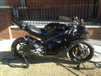 2011 Yamaha R6 7034 miles Michelin Pilot 2CT front and