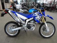 This WR250 is almost brand-new! It is a SERIOUS off