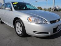 2011 Chevy Impala LS Sedan. Full Size Comfort and
