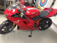 2011 (RED) DUCATI 1198 SP. The bike has only 5368 miles