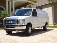 EXCELLENT CONDITION 2011 FORD E250 WHITE CARGO VAN. -