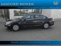 Accord LX 2.4 Honda Certified 4D Sedan and Black. Talk