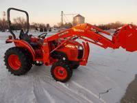 2011 Kubota L3800 Tractor with Loader for sale! This is