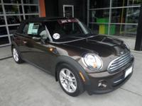 EPA 35 MPG Hwy/28 MPG City! CARFAX 1-Owner, MINI
