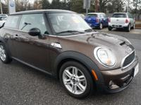 2011 Mini Cooper S 2 Door finished in Hot Chocolate
