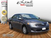 This outstanding example of a 2011 Toyota Corolla LE is