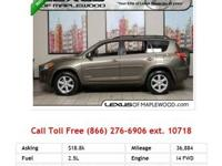 2011 Toyota Rav4 Pyrite Mica I4 2.5L Gas AWD had to say