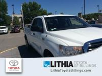 CARFAX 1-Owner. SUPER WHITE exterior, Tundra trim. CD