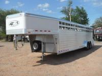 32234 7 x 28 x 6.5 Tall. 2012 4 Star Stock Trailer. Two