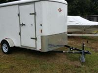 2012 6x12 tag along box trailer made by Carry-on. In