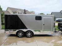 2012 7X16 United cargo trailer with aluminum wheels.