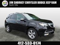 2012 Acura MDX 3.7L New Price! Clean CARFAX. Leather,