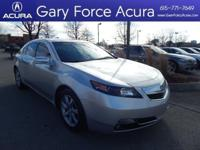Our 2012 Acura TL is stunning in Silver! This luxury