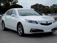 Options:  2012 Acura Tl Advance Auto|Bellanova White