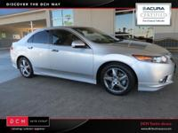 Acura Certified!. TSX Special Edition, ABS brakes,
