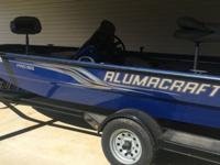 ,,,,..2012 Alumacraft aluminium fishing boat. It has a