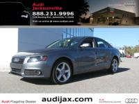 This CPO quattro A4 sedan is loaded with options;