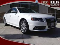 2012 Audi A4 Sedan SD Our Location is: Elk Mountain