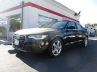 New Price! Clean CARFAX. Black 2012 Audi A6 3.0 Premium