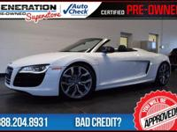 R8 5.2 quattro, 2D Convertible, and 2012 Audi R8.