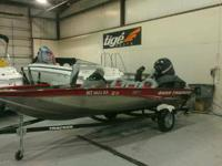 Has a 75 hp EFI four stroke mercury with 12.8 hours on