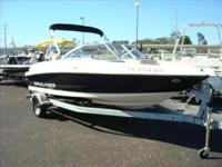 WITH MERCRUISER 3.0 LITER ENGINE,GALV.TRAILER,BIMINI