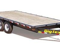 "2012 Big Tex Trailers New 102 New 102""x20' Flat Bed"