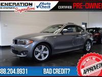 2D Coupe and 2012 BMW 1 Series. Nav! Welcome to