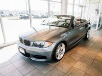 Clean CARFAX. Space Gray 2012 BMW 1 Series 135i RWD