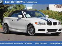Options:  2012 Bmw 1 Series 135I|Alpine White/Black|V6