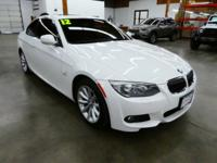 New Price! Clean CARFAX. Alpine White 2012 BMW 3 Series