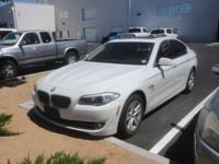 Clean CARFAX. 2012 BMW 5 Series 528i xDrive White AWD
