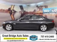 2012 BMW 5 Series CARS HAVE A 150 POINT INSP, OIL