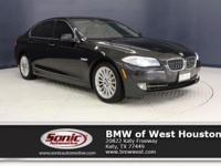 This 2012 BMW 535i has a Certified Clean Carfax, Black