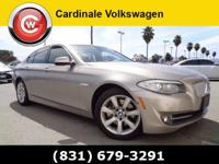 CARFAX One-Owner. Clean CARFAX. Silver 2012 BMW 5