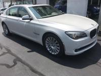 Recent Arrival! 2012 Mineral White Metallic BMW 7