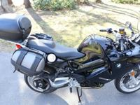 2012 model year black BMW F800 ST sport-touring
