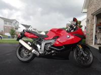 2012 BMW K1300S with 1,686 miles, 1 owner. It has the