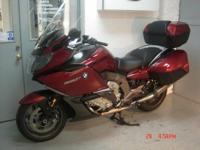 2012 BMW K1600GT, red with 12k miles. This bike is
