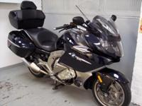 2012 BMW K1600GTL, metallic blue with only 6280 miles.