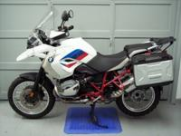 2012 BMW R1200GS, Red, white and blue Rally paint job,