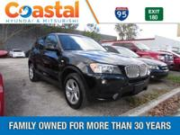 This 2012 BMW X3 xDrive28i in Jet Black features: AWD