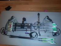 2012 Bowtech Destroyer 350. 65 lb draw, 29 inch draw.