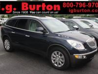 Clean CARFAX. Blue 2012 Buick Enclave Premium Group AWD