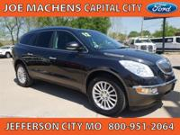 New Price! Carbon Black Metallic 2012 Buick Enclave