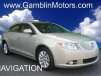 Like new Premium Buick LaCrosse with eAssist! Comes