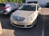 Clean CARFAX. Gold Mist Metallic 2012 Buick LaCrosse