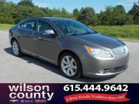 2012 Buick LaCrosse Leather Group 3.6L V6 E85 Flex Fuel